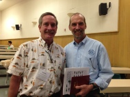 Paul Olin (Sea Grant Aquaculture Specialist) & Neil Sims (Co-founder, CEO Kampachi Farms)