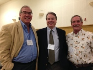 Don Kent (President Hubbs-Sea World Research Institute), Randy Lovel (California State Aquaculture Coordinator), Paul Olin (Sea Grant Aquaculture Specialist)